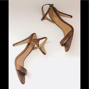 Fergie Tan Heel Sandals